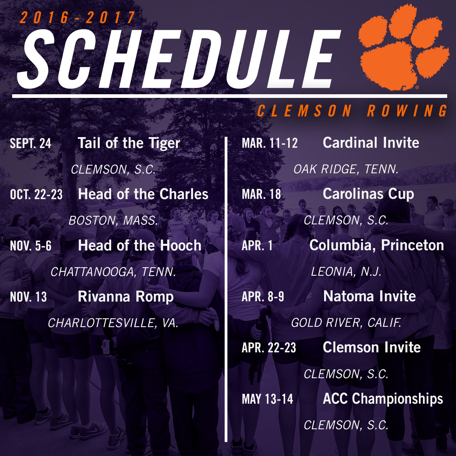 Tigers Announce 2016-17 Schedule
