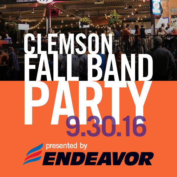 Clemson Fall Band Party Is Set For Friday