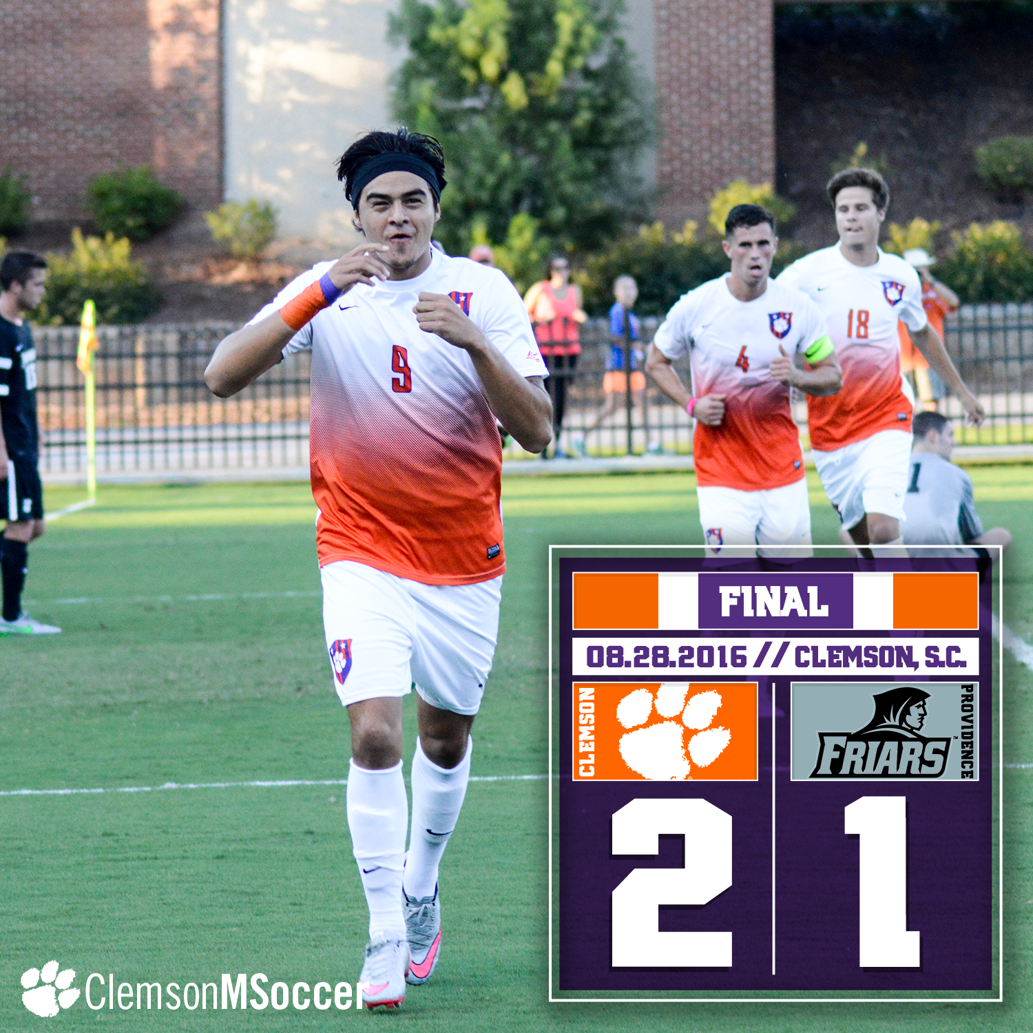 No. 3 Clemson Drops Providence in Home Opener, 2-1