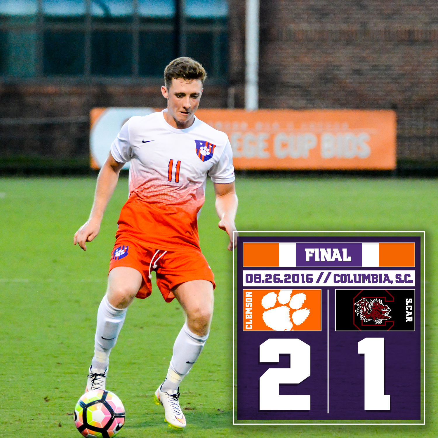 No. 3 Tigers Open Season With a 2-1 Victory Over No. 24 South Carolina in Columbia