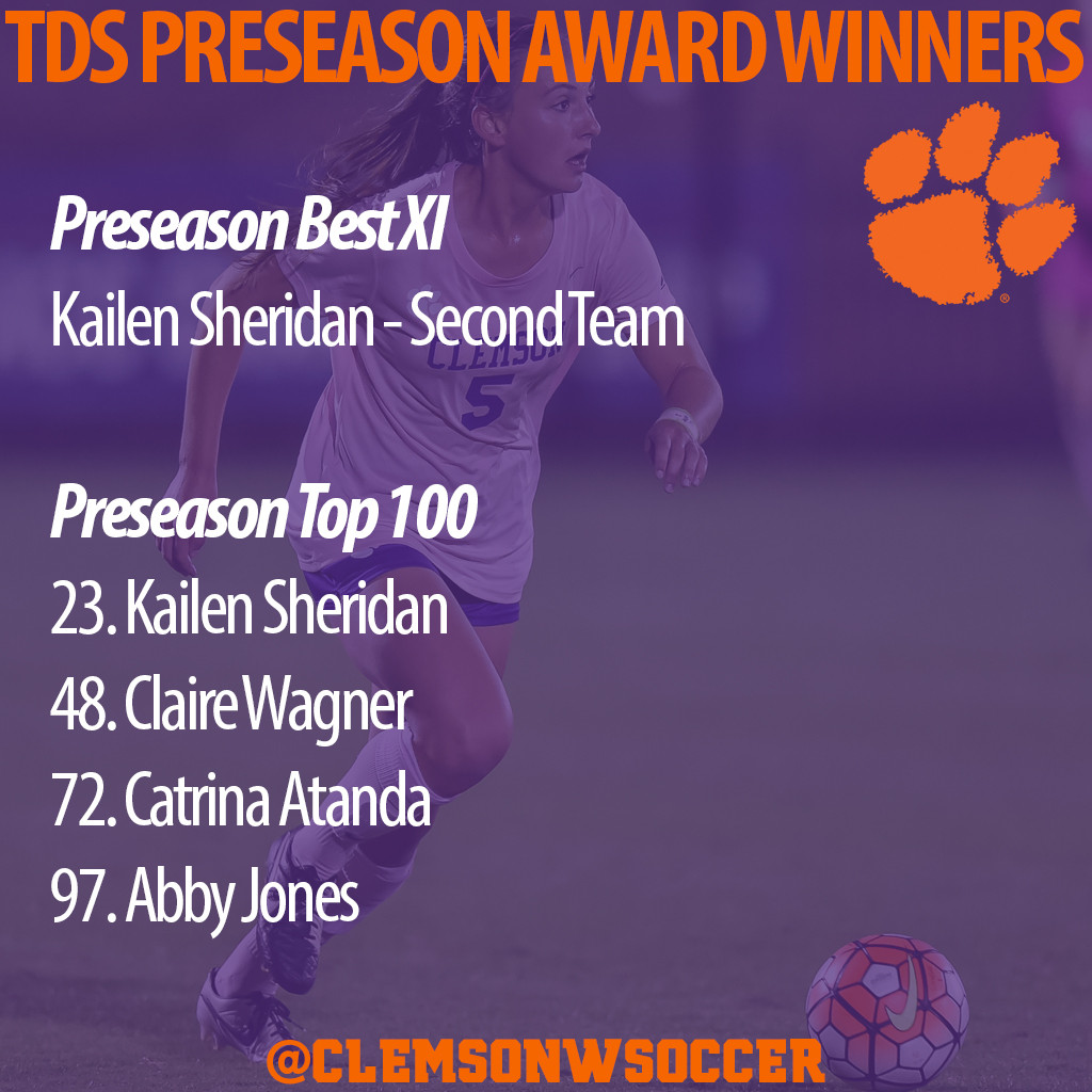 Four Seniors & Clemson Team Recognized by Top Drawer Soccer