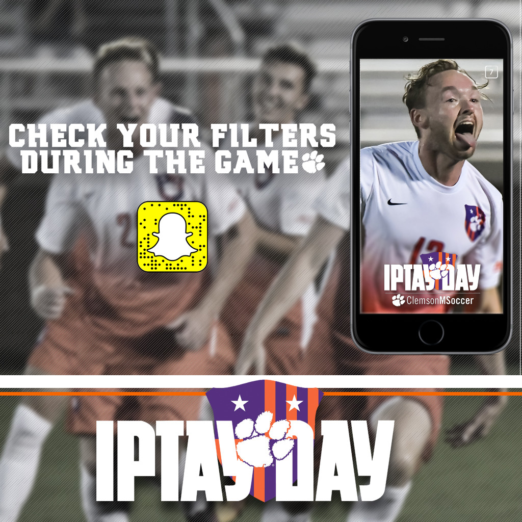 Heading To Campus This Weekend? Check Out IPTAY's Snapchat Filters!