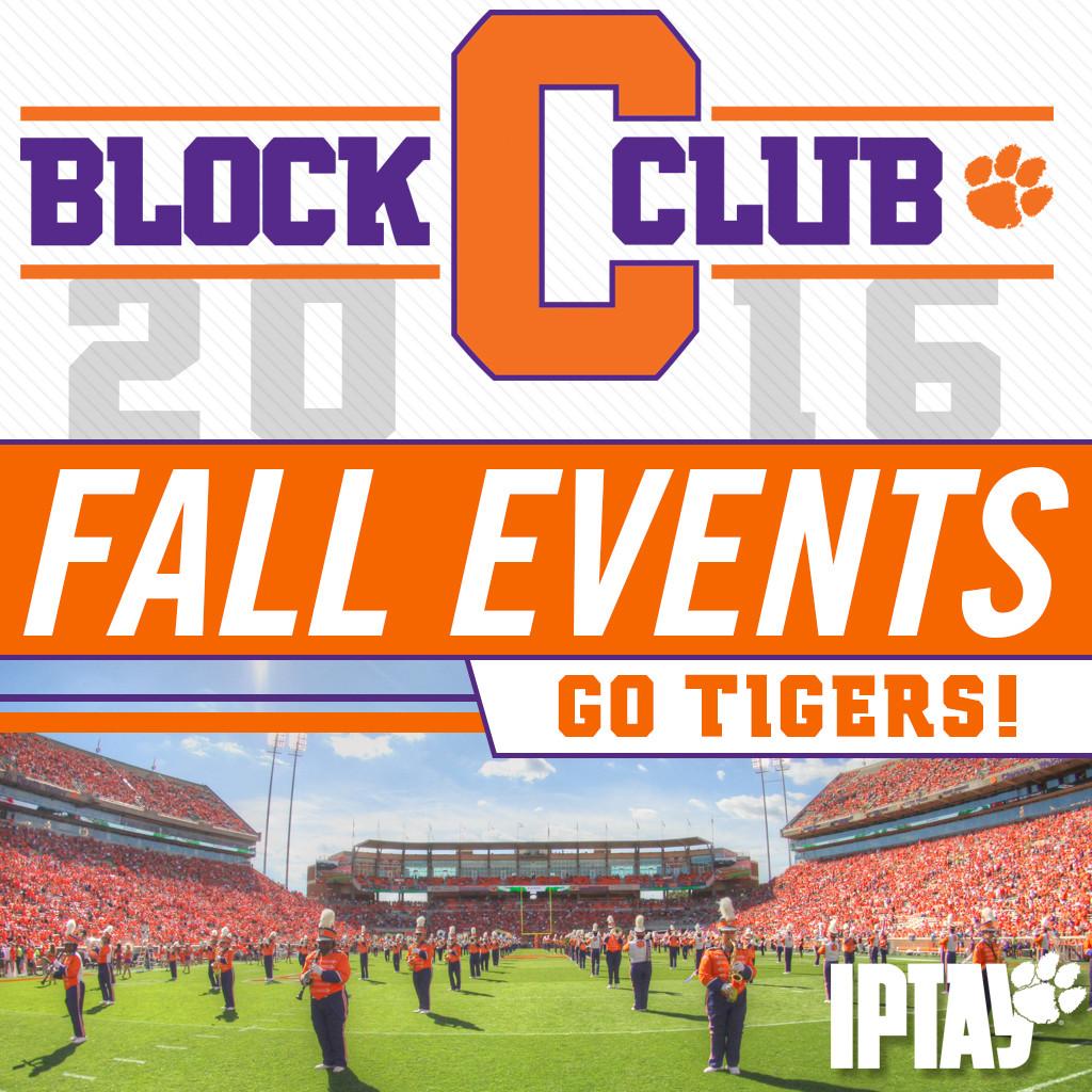 Fall 2016 Block C Club Events