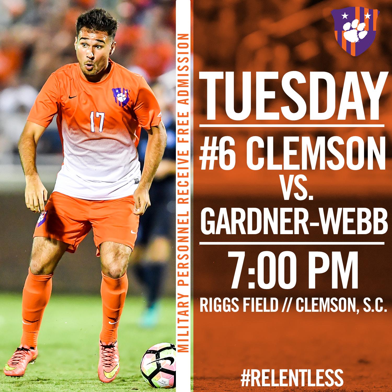 No. 6 Clemson Hosts Gardner-Webb Tuesday