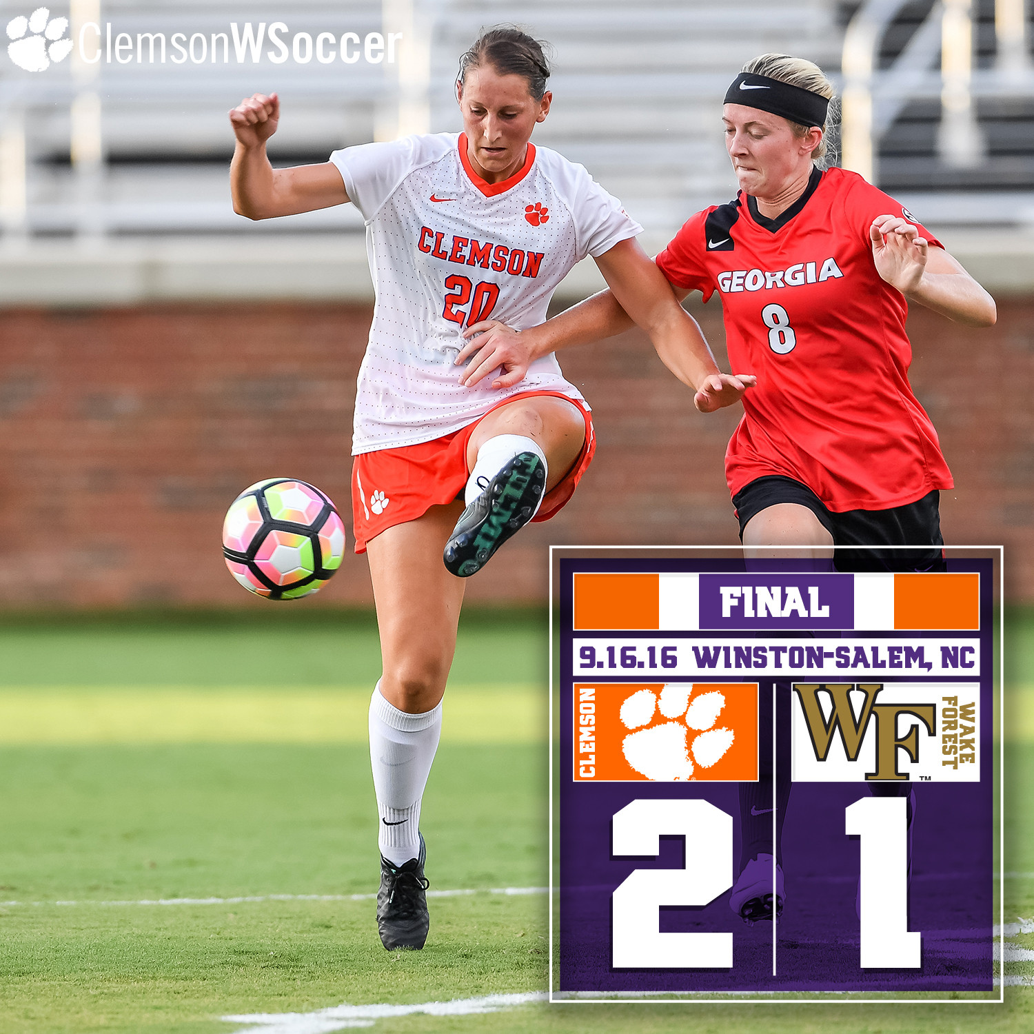 No. 13 Clemson Opens ACC Play with Win at Wake Forest Friday