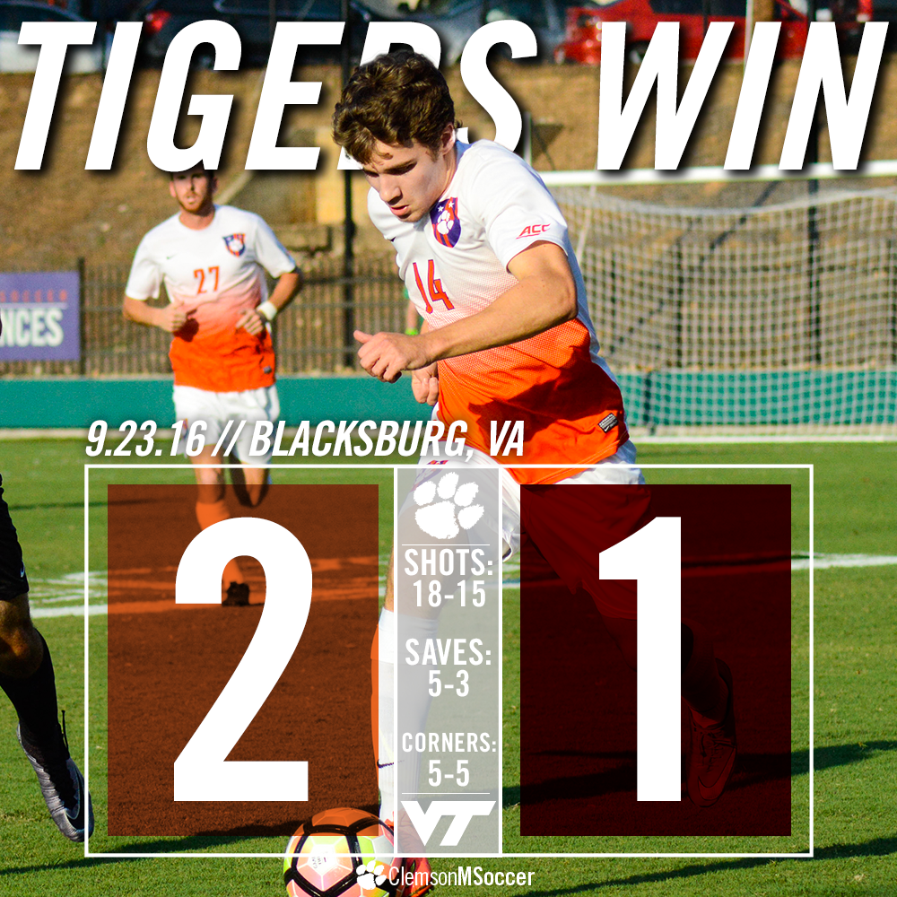 Late Goal by Raynor Lifts Tigers to First ACC Win of 2016