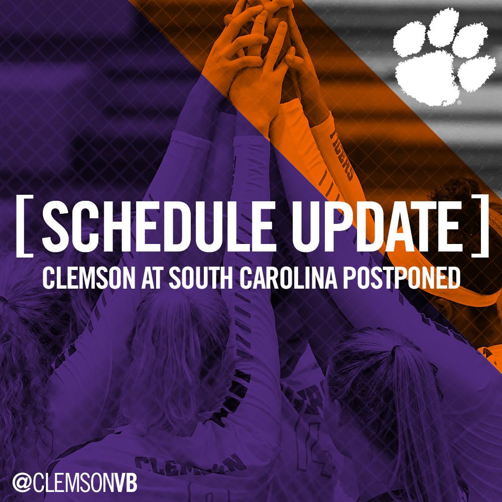 Volleyball Matchup With South Carolina Postponed