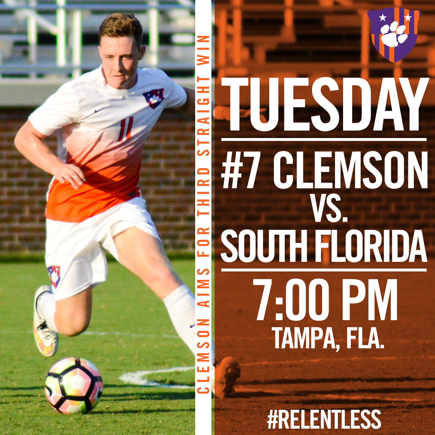 Clemson Heads to Tampa to Face South Florida Tuesday