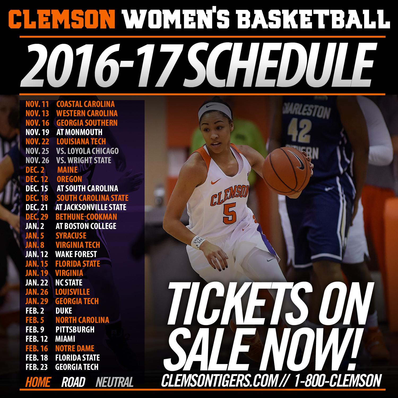 Clemson Releases 2016-17 ACC Schedule