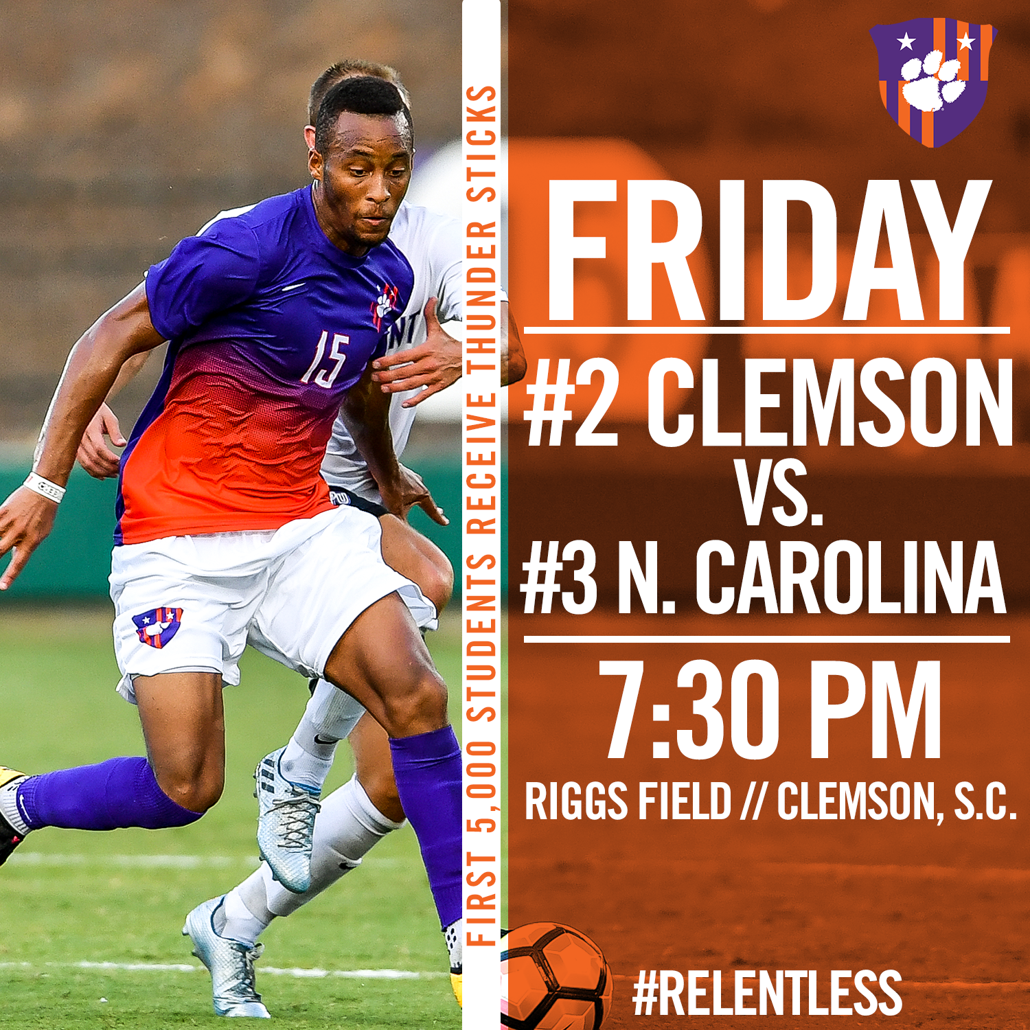 No. 2 Clemson Opens ACC Play With No. 3 North Carolina Friday