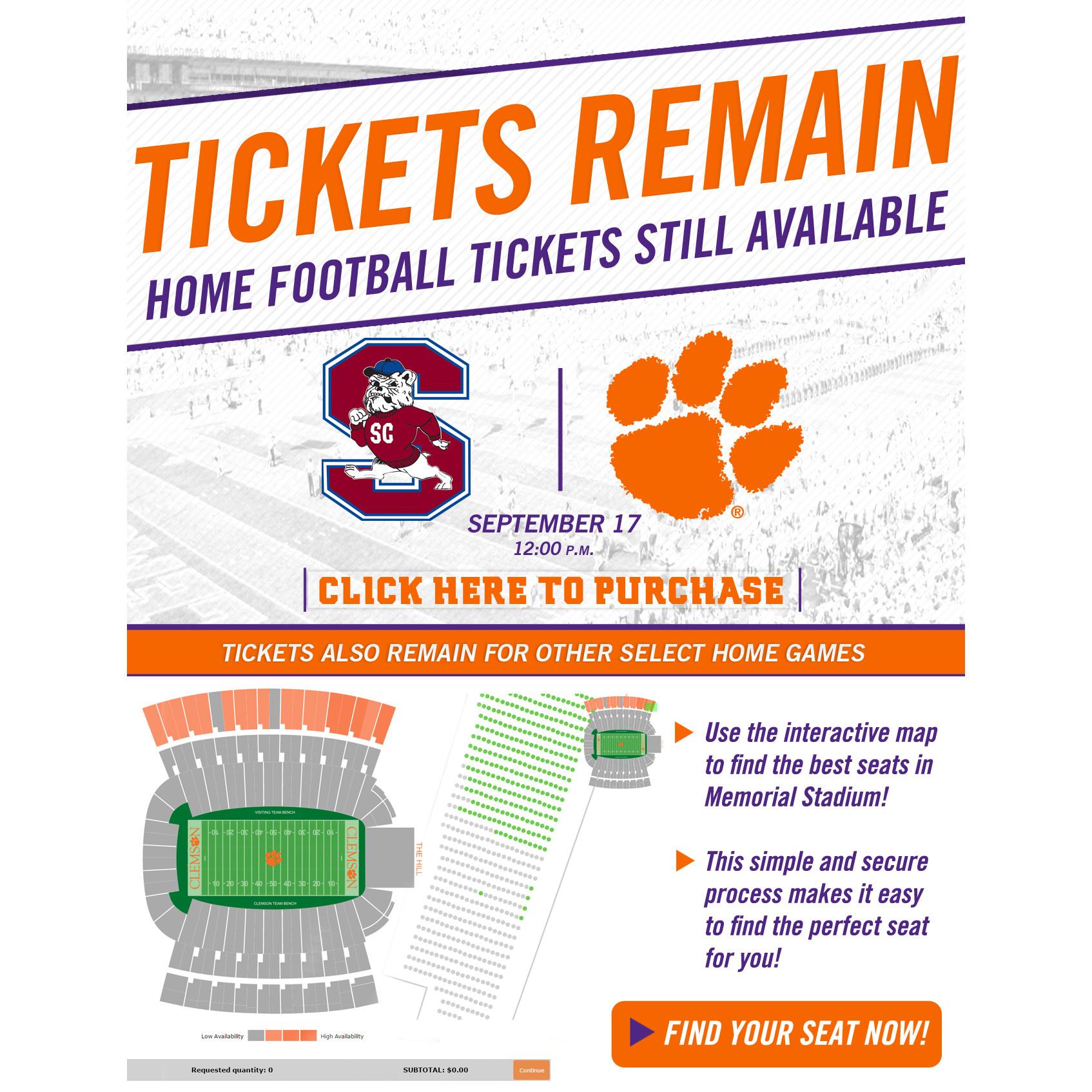 SC State Game Ticket Update