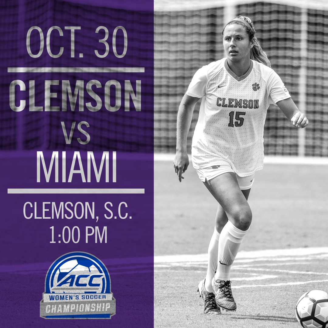 No. 14 Clemson Hosts Miami in ACC Quarterfinals Sunday
