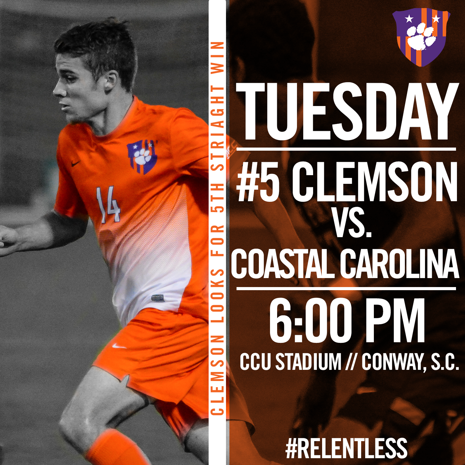Clemson Travels to Coastal Carolina for First Time Tuesday