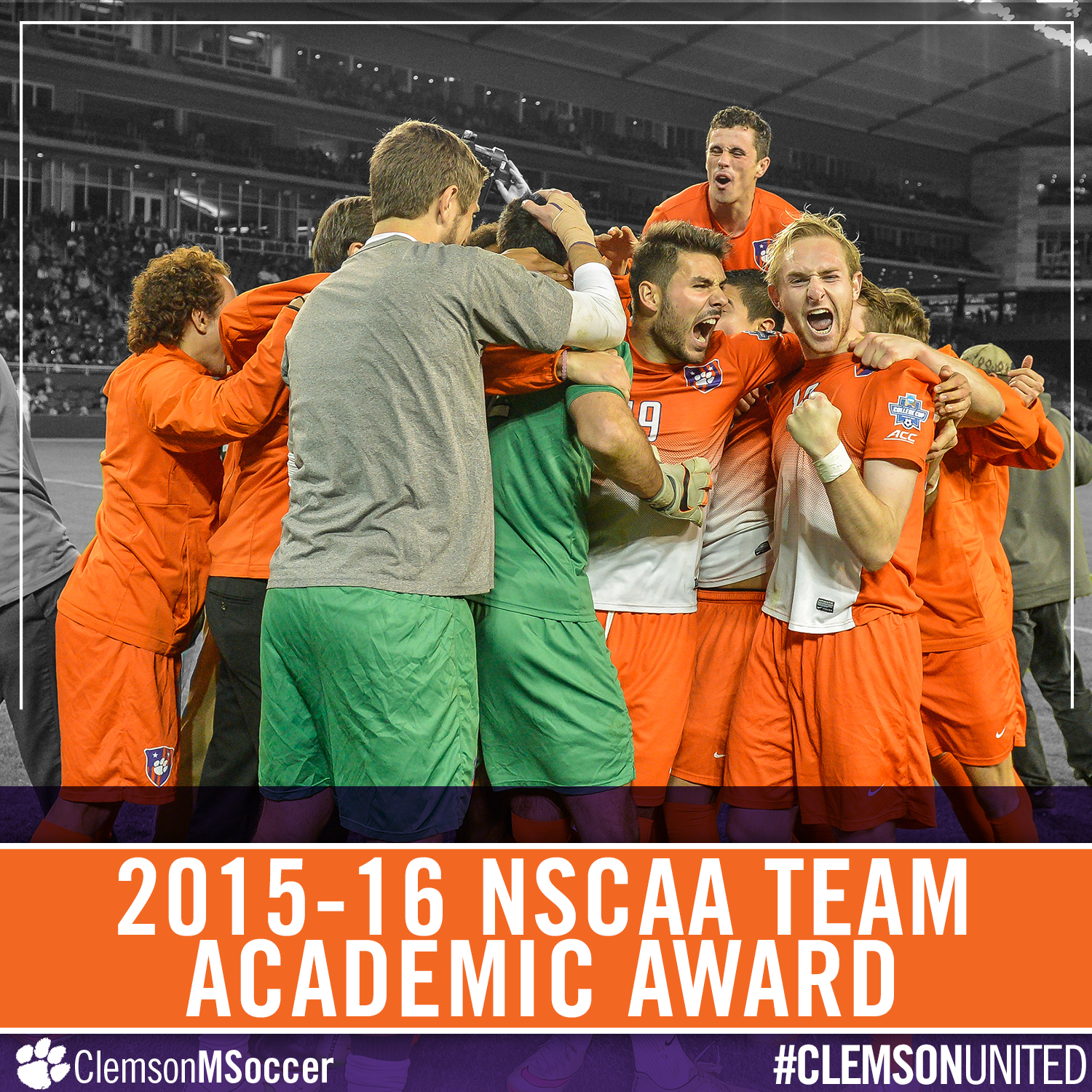 Clemson Men?s Soccer Team Earns NSCAA Team Academic Award