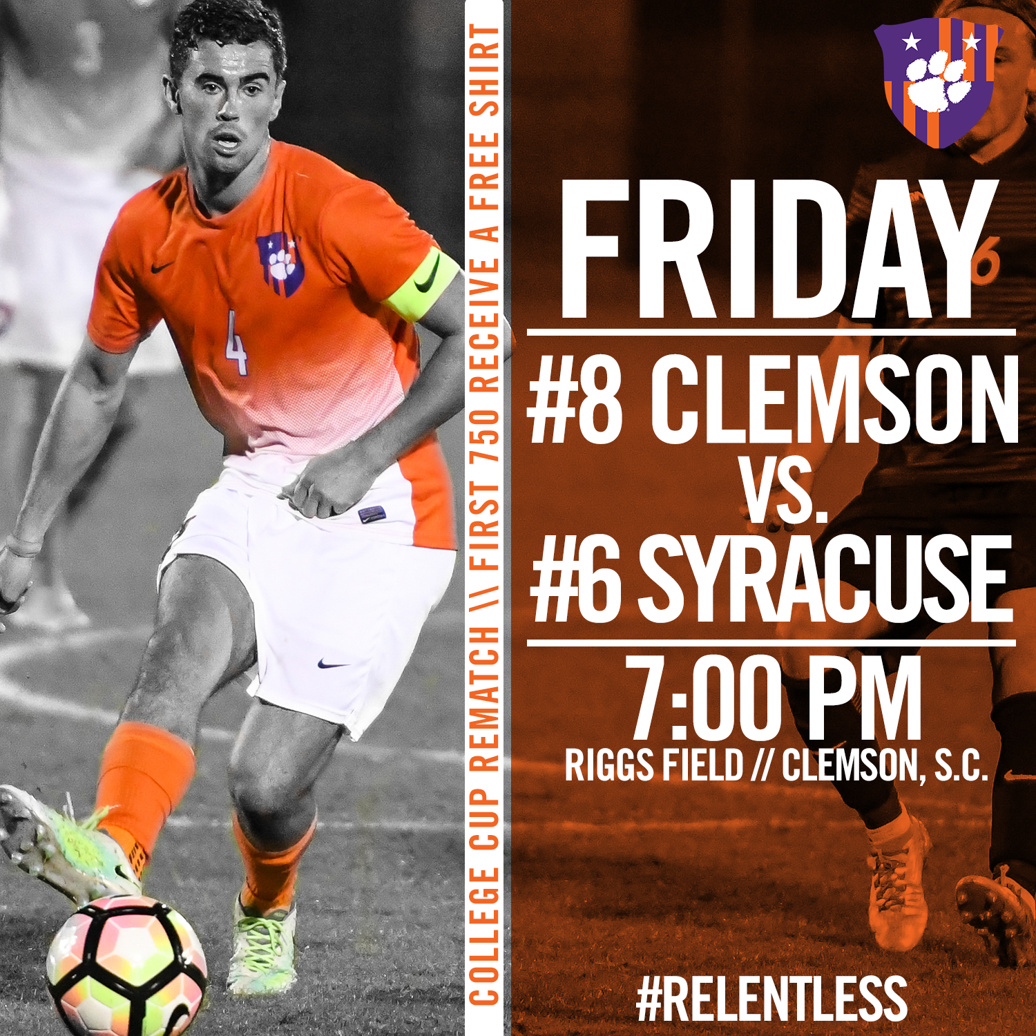 Clemson and Syracuse Face Off in College Cup Rematch Friday