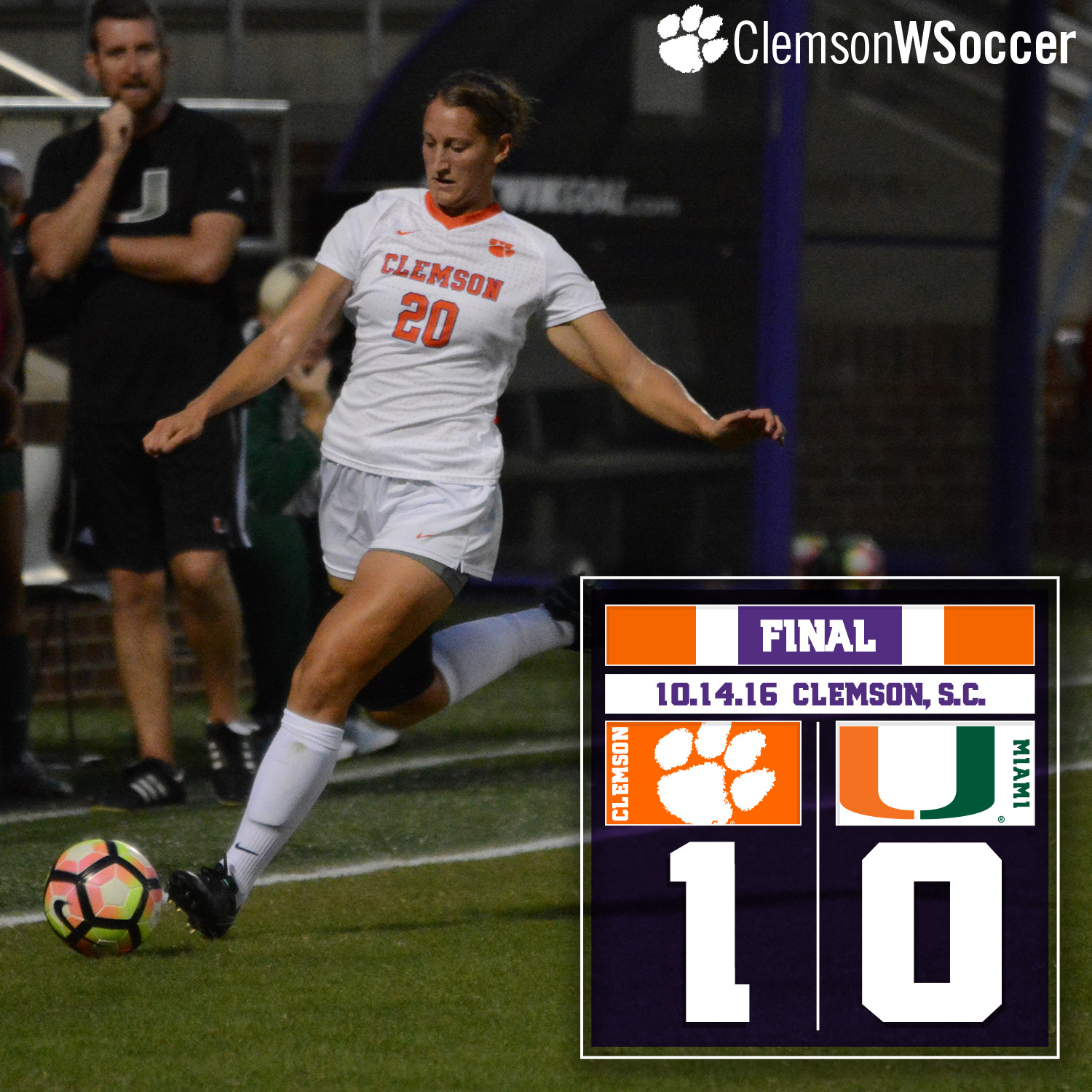 No. 18 Clemson Edges Miami Friday at Riggs