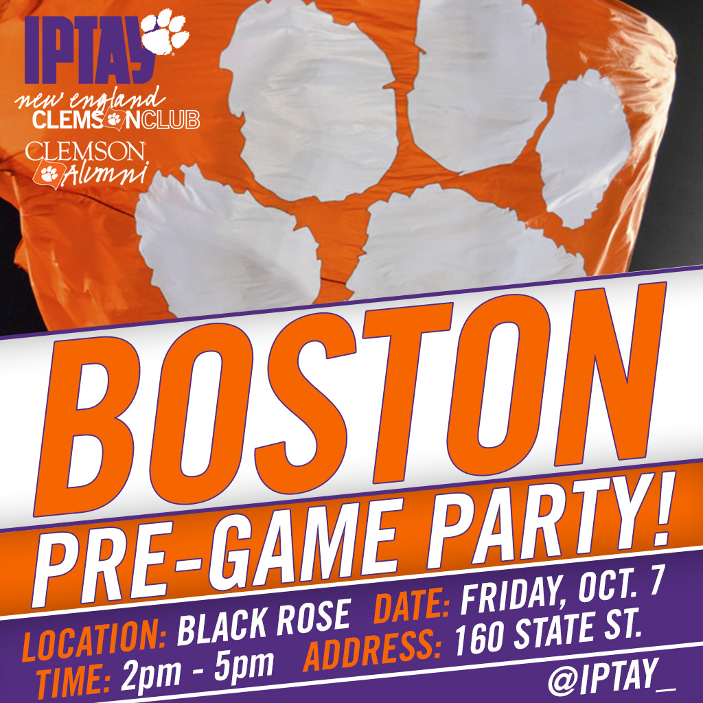 Join Fellow Tigers In Boston For A Pre-Game Party