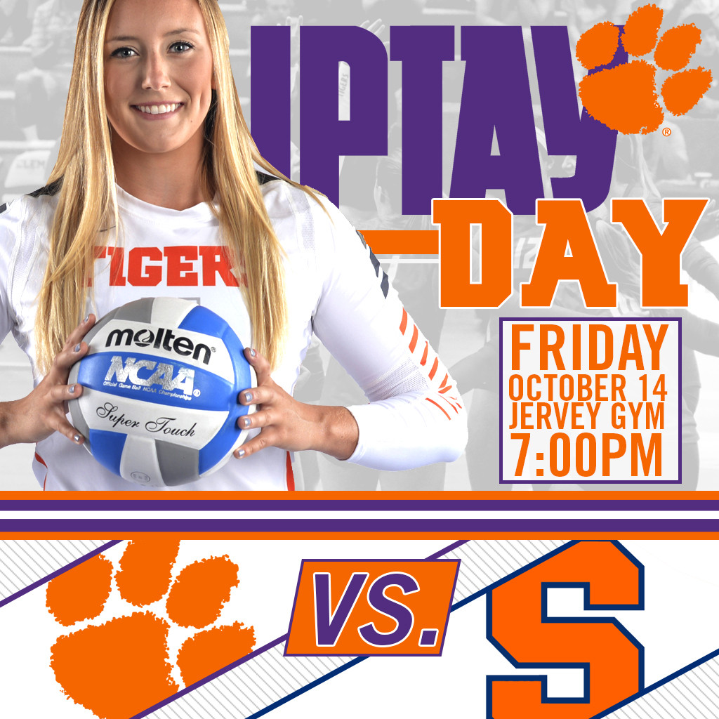 Friday, October 14 Pegged As IPTAY Day At Clemson Volleyball