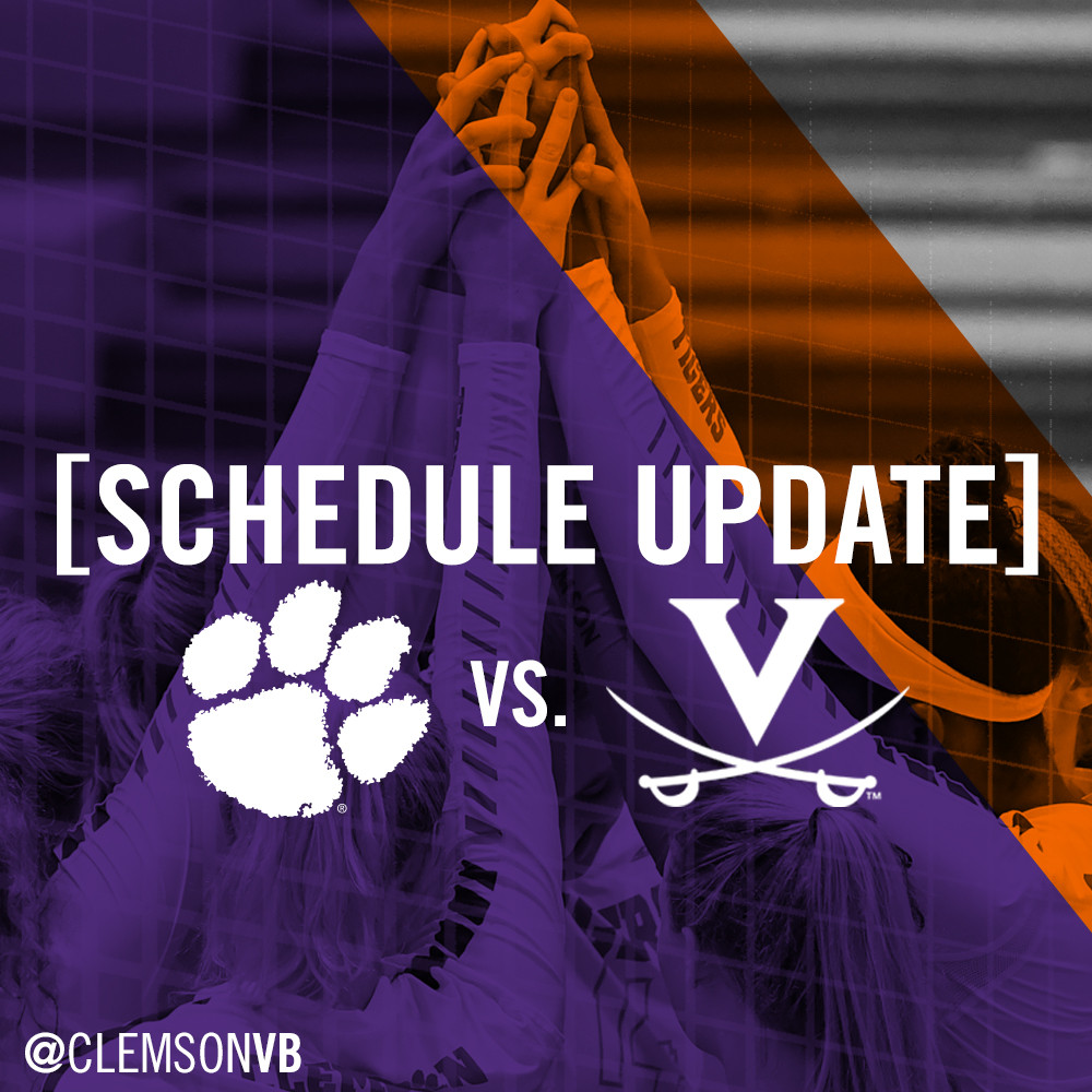 Clemson Vs. UVA Moved To 6PM