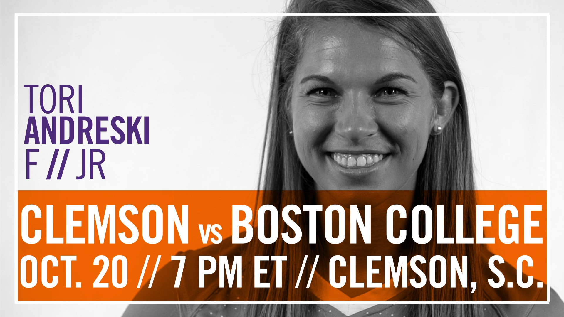 No. 17 Clemson Hosts Pink Game vs. Boston College Thursday