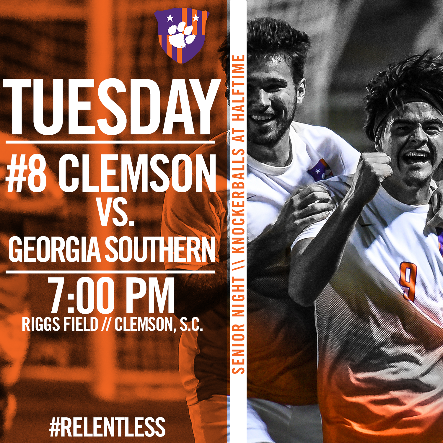 Clemson Hosts Georgia Southern Tuesday for Senior Night