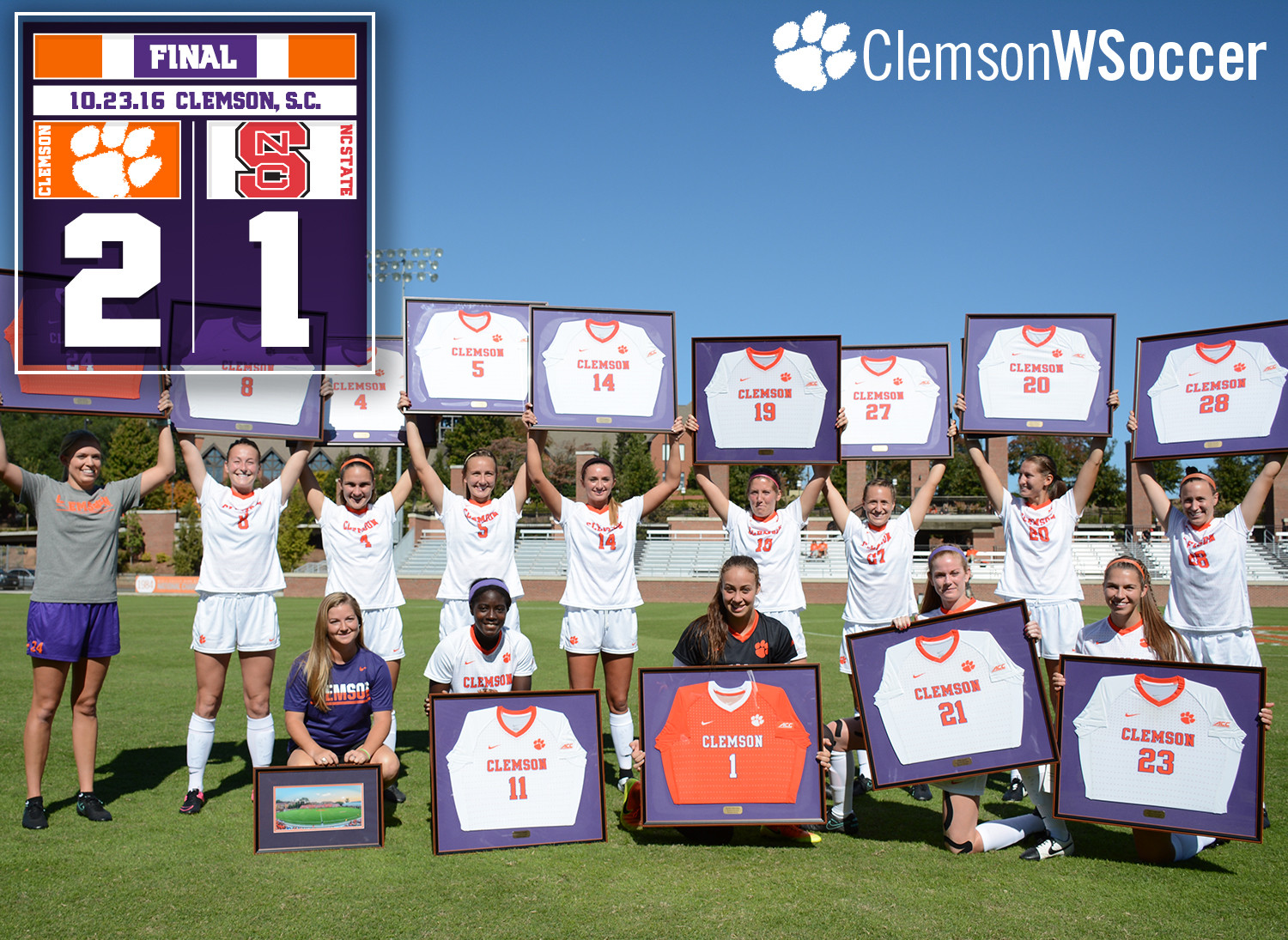 Atanda Celebrates Senior Day with Two Goals, No. 17 Tigers Defeat NC State to Finish Regular Season Unbeaten at Riggs
