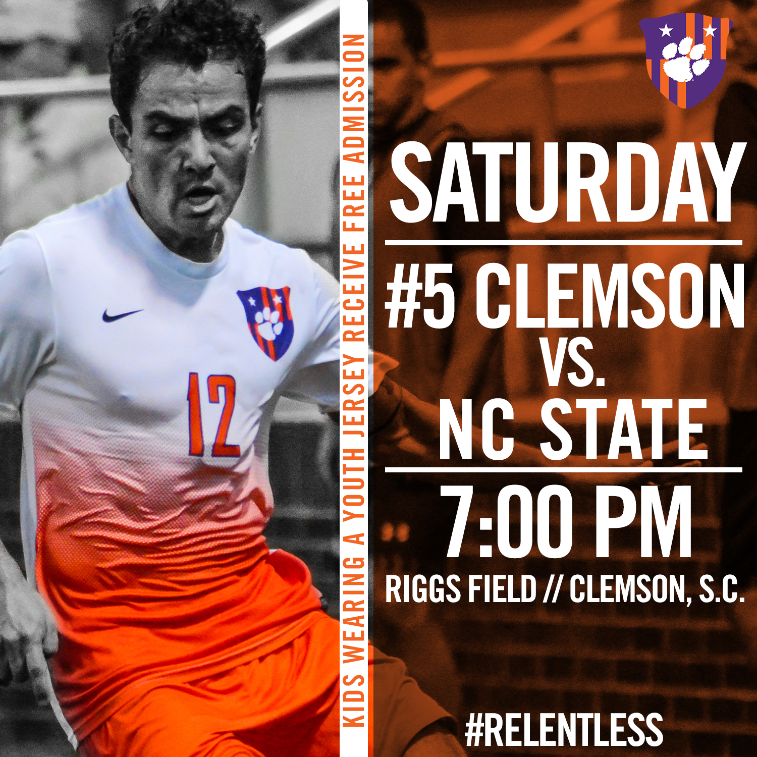 No. 5 Clemson Faces NC State at Historic Riggs Field Saturday