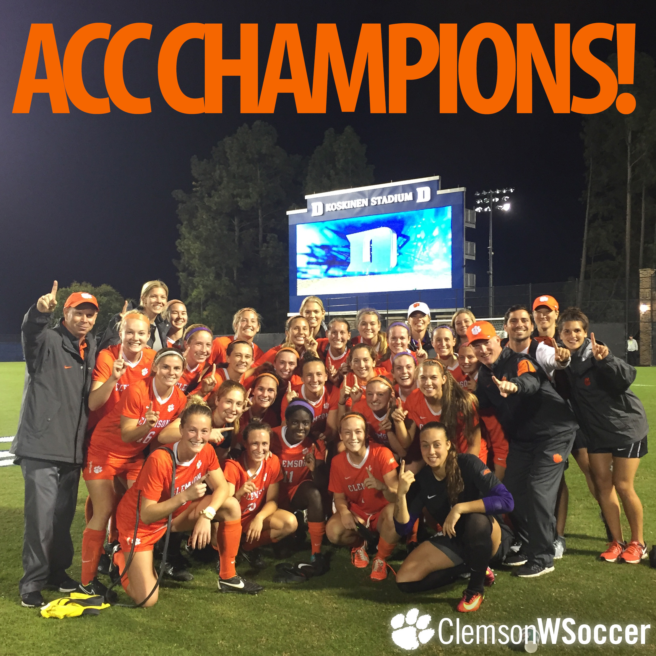 ACC Champions! No. 14 Clemson Wins ACC Regular Season Crown with Upset of No. 6 Duke