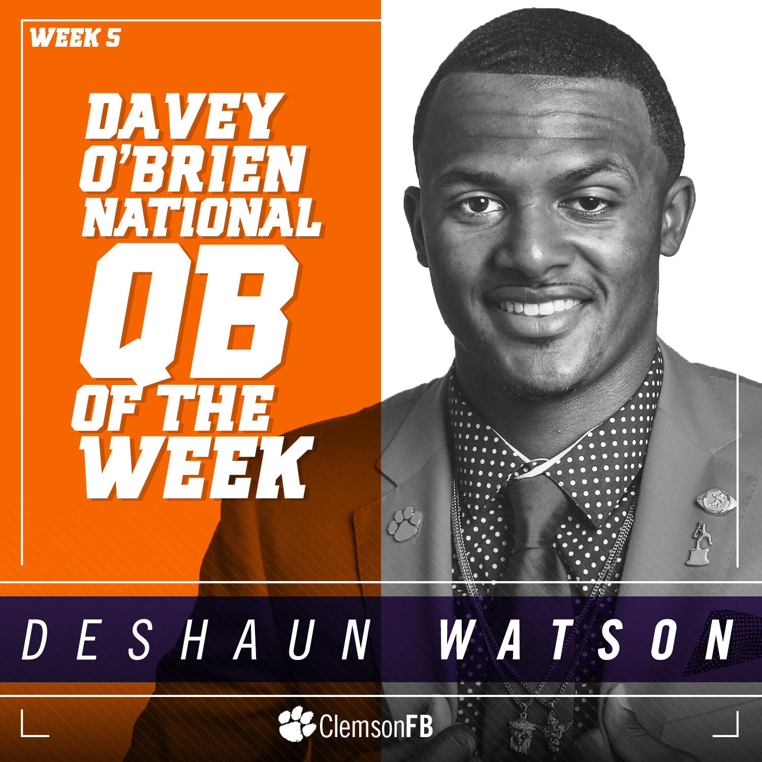 Watson Named O'Brien Award Player of the Week