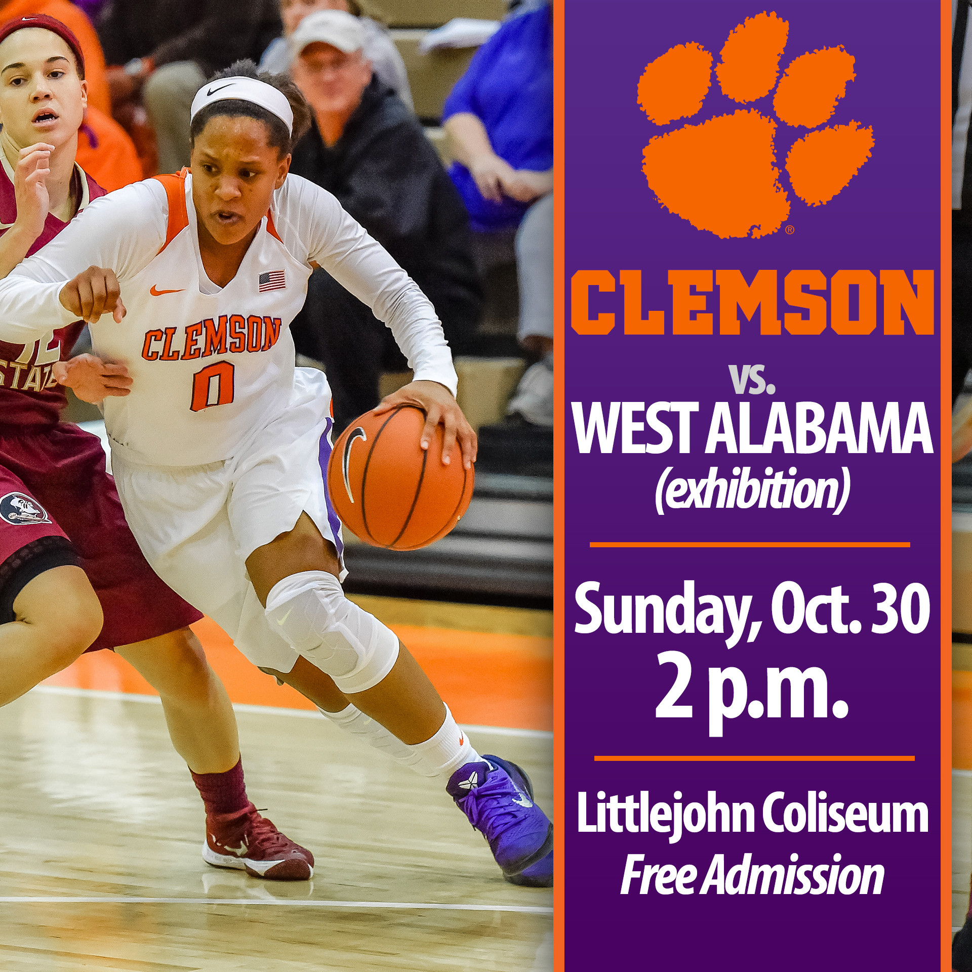 Tigers Host West Alabama in Exhibition Sunday at Littlejohn