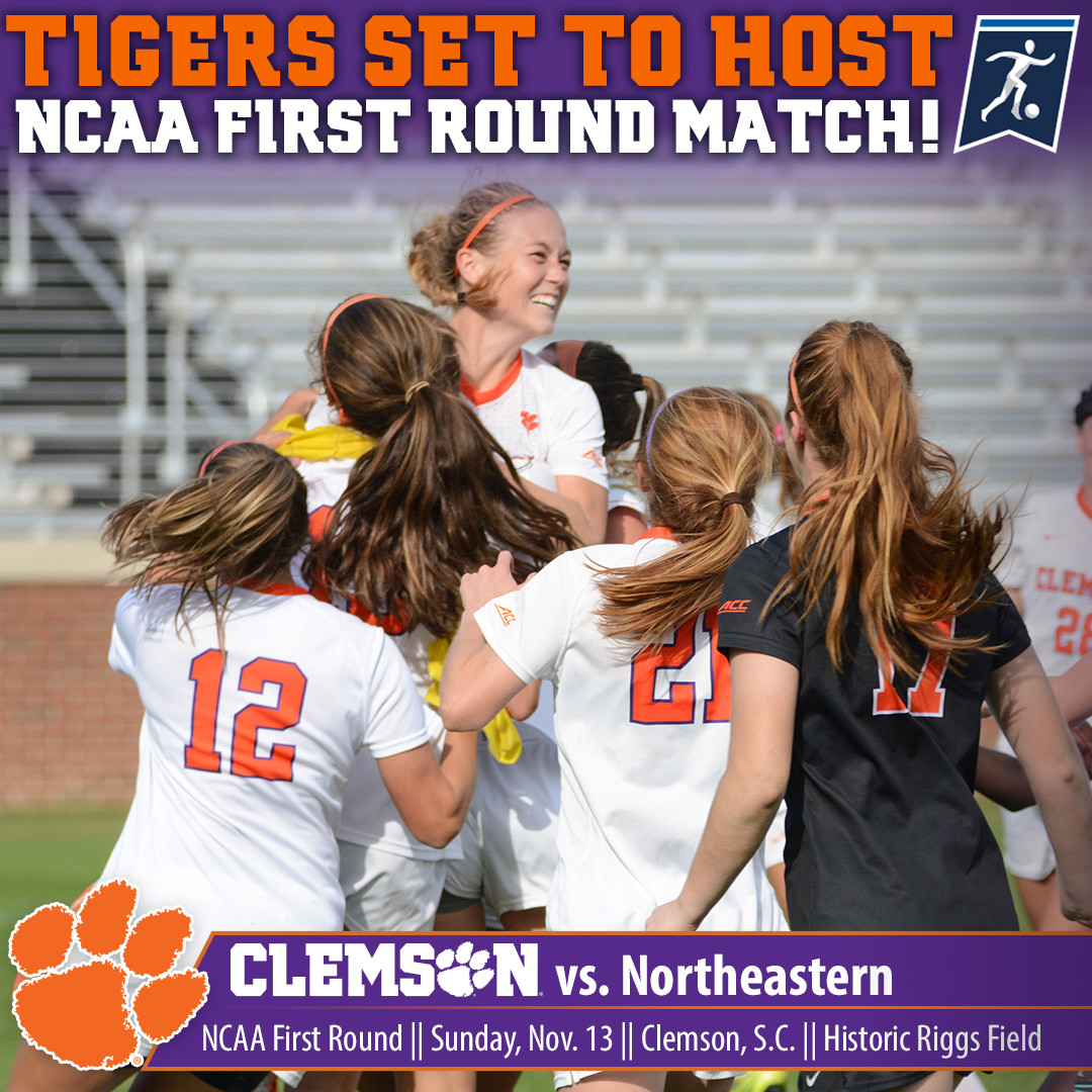 Clemson Earns a No. 3 National Seed, Hosts Northeastern in NCAA First Round