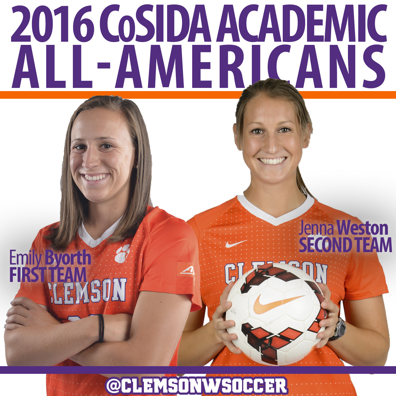 Emily Byorth & Jenna Weston Named Academic All-Americans