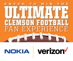 Register to Win a Verizon and Nokia Clemson Tigers Game Day Experience