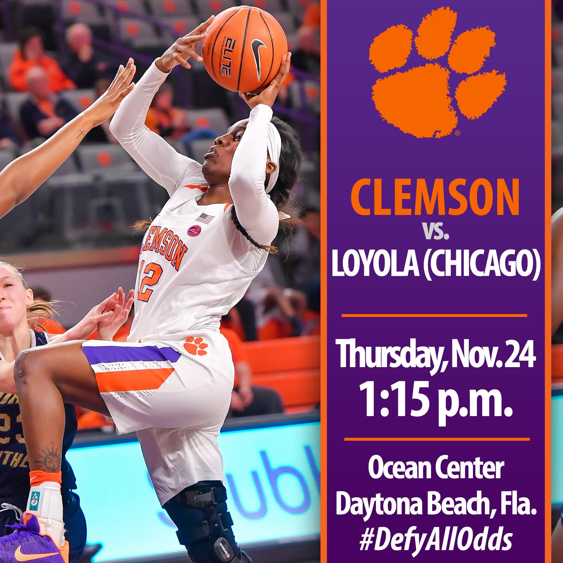 Clemson Faces Loyola (Chicago) & Wright State in Daytona Beach This Week