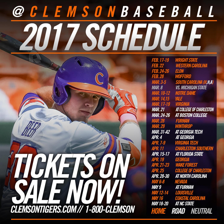 2017 Schedule Announced