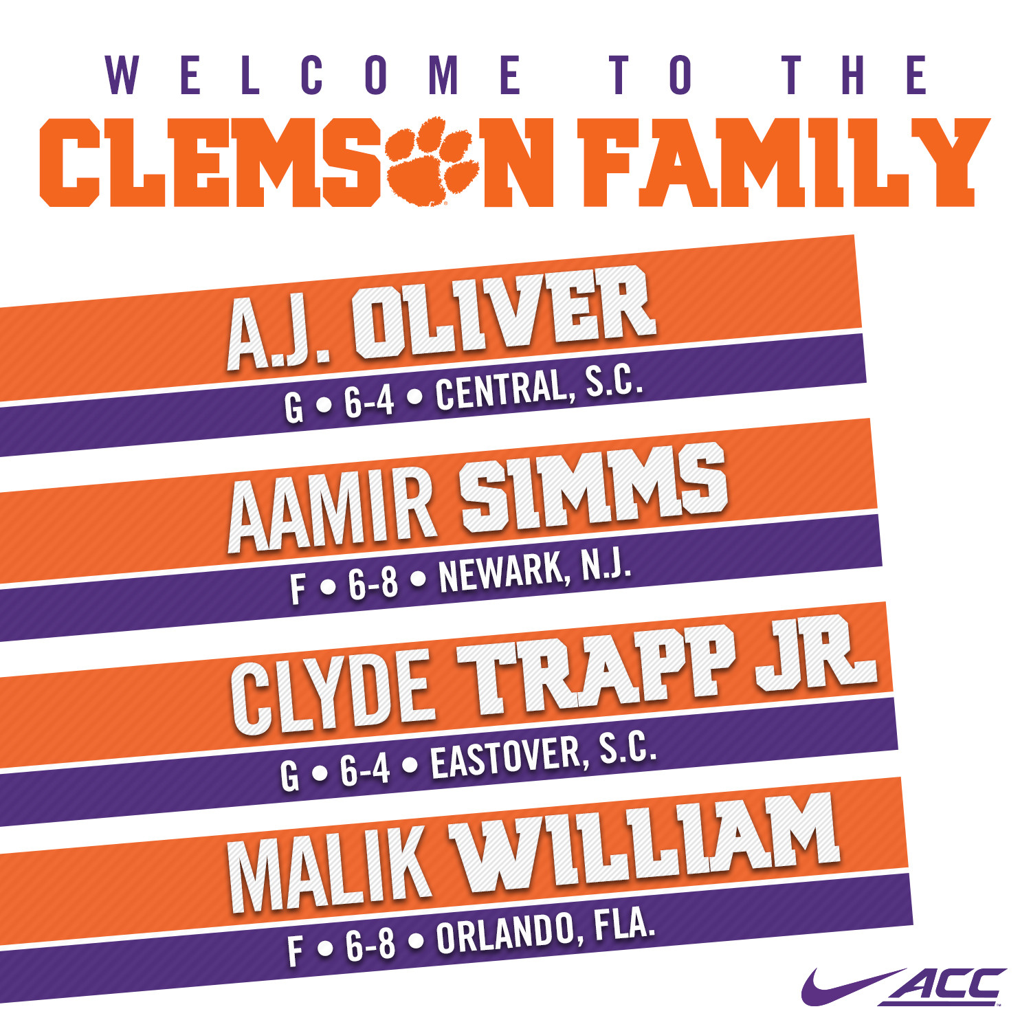 Tigers Add Four Signees
