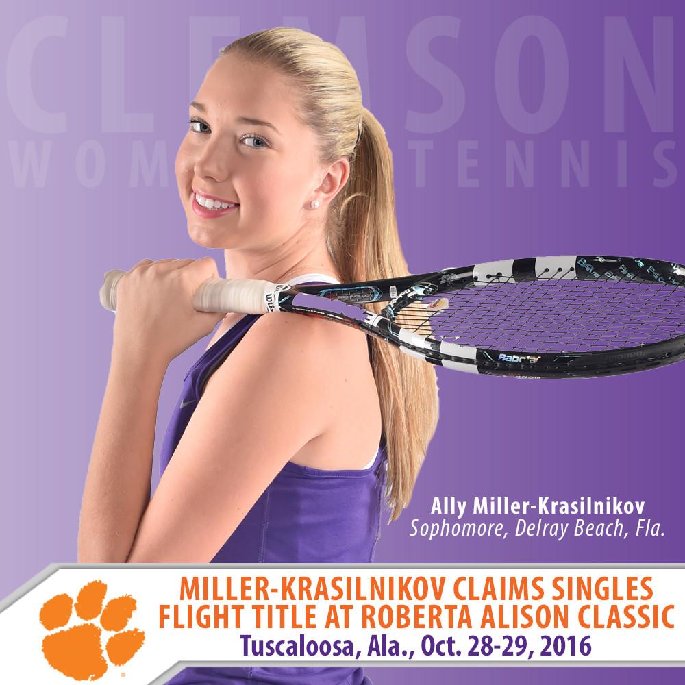 Miller-Krasilnikov Wins Singles Flight at Roberta Alison Fall Classic