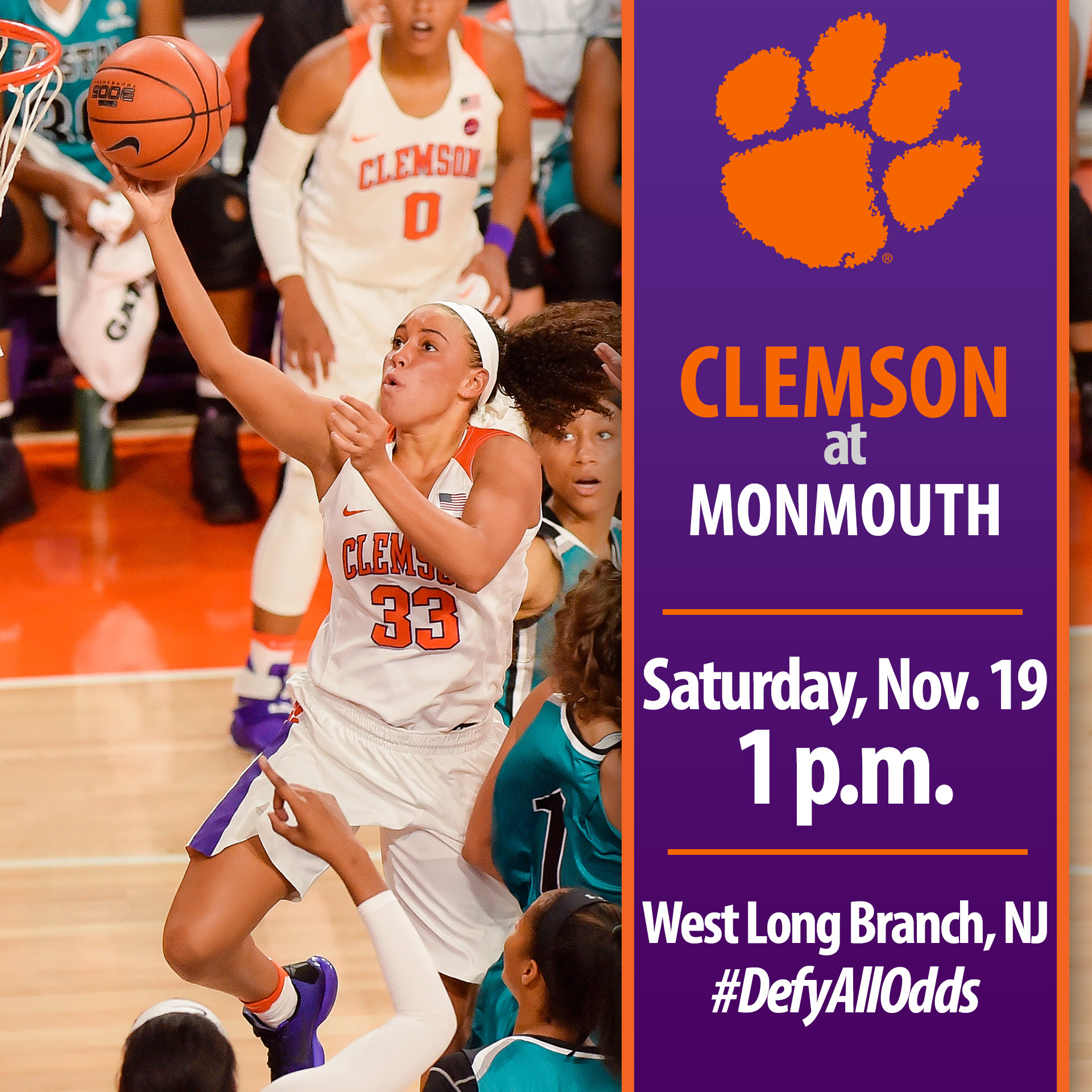 Clemson Travels to Monmouth for First Road Game