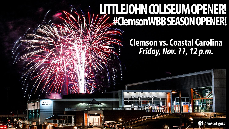 Tigers Open Regular Season vs. Coastal Carolina Friday in Littlejohn Coliseum