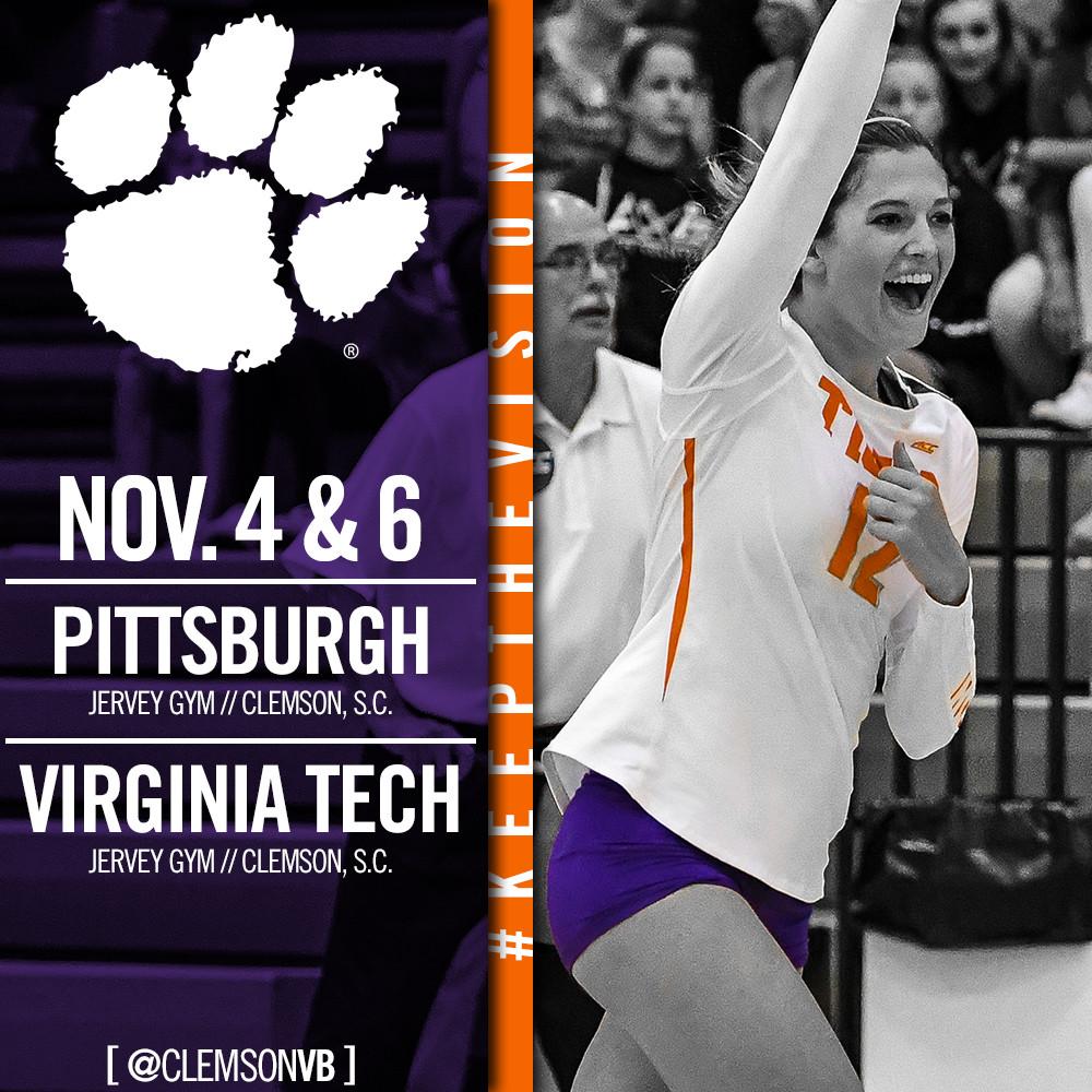 Clemson To Host Pitt and Virginia Tech