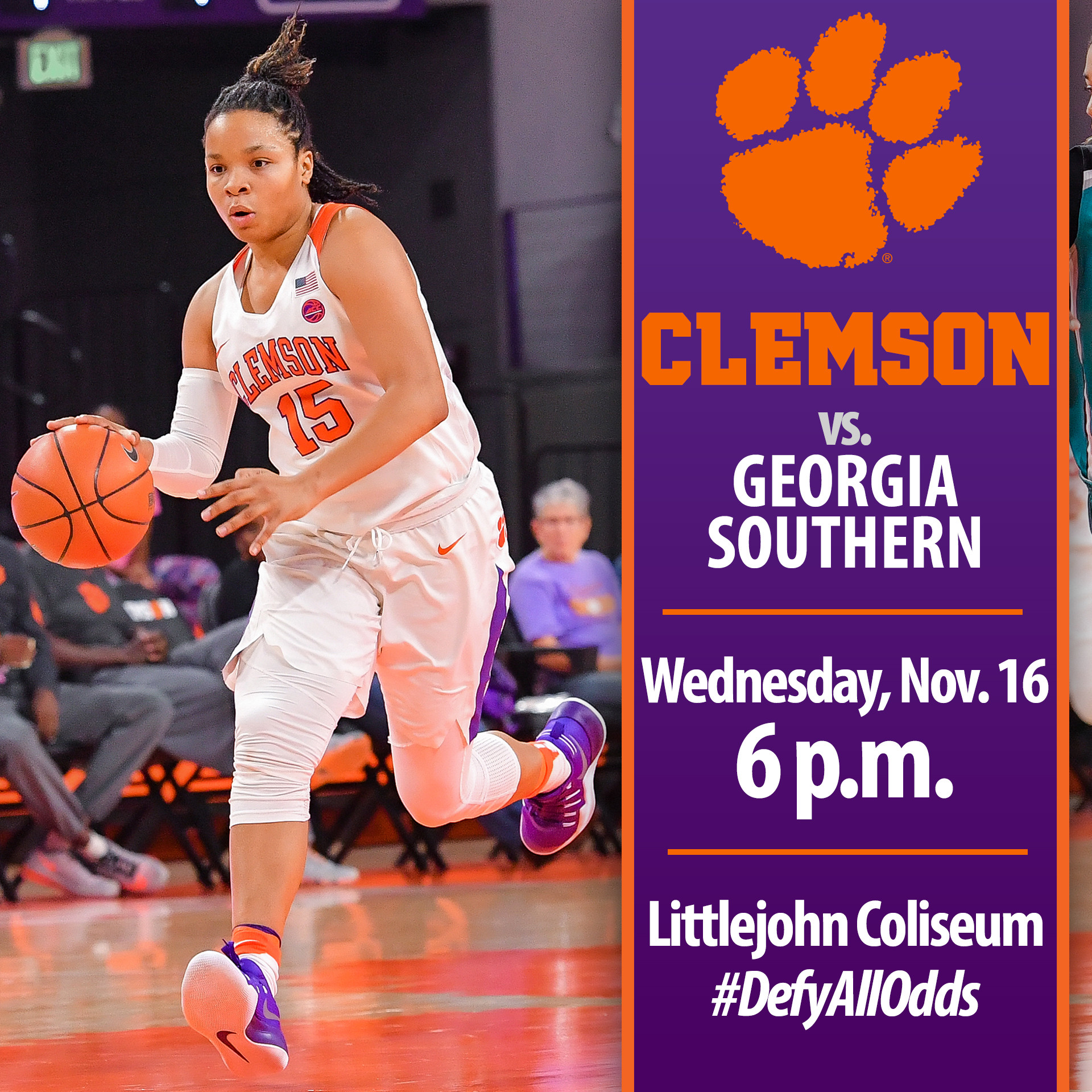 Tigers Look for 3-0 Record Wednesday vs. Georgia Southern