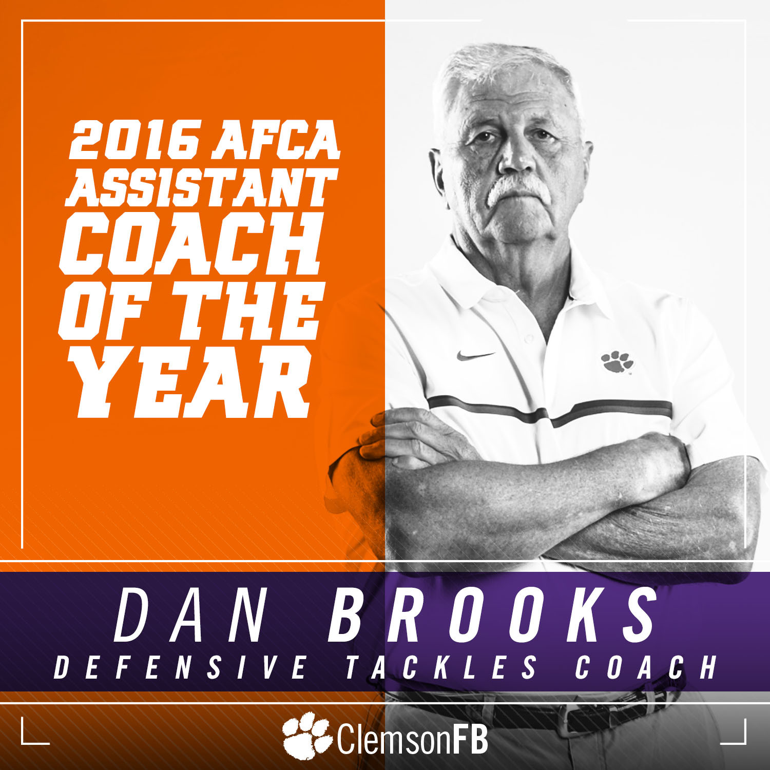 Brooks Named Assistant Coach of the Year by AFCA