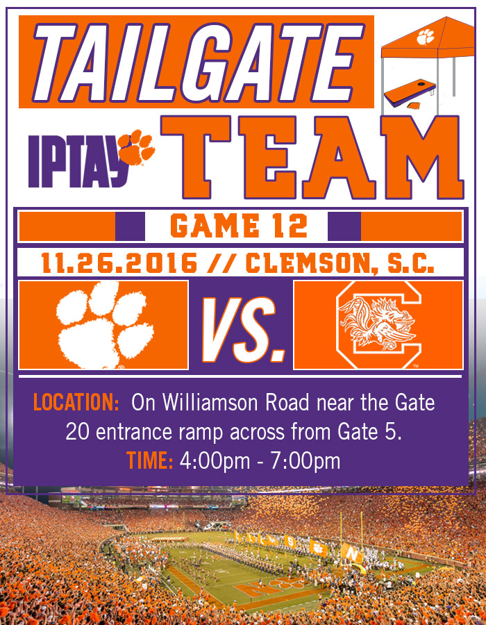 IPTAY Tailgate Team Prepares For Final Stop In 2016