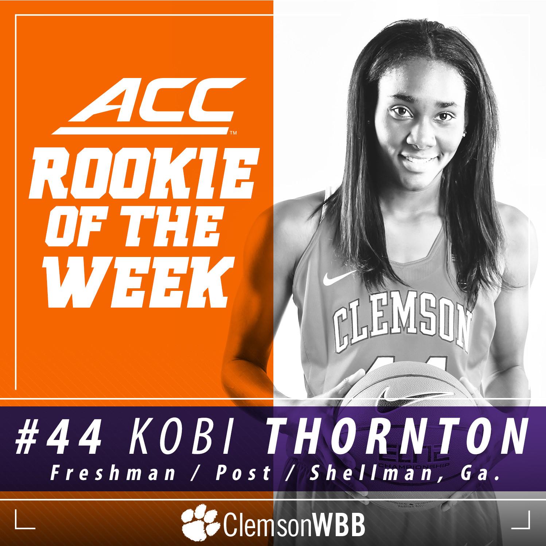Kobi Thornton Named ACC Rookie of the Week