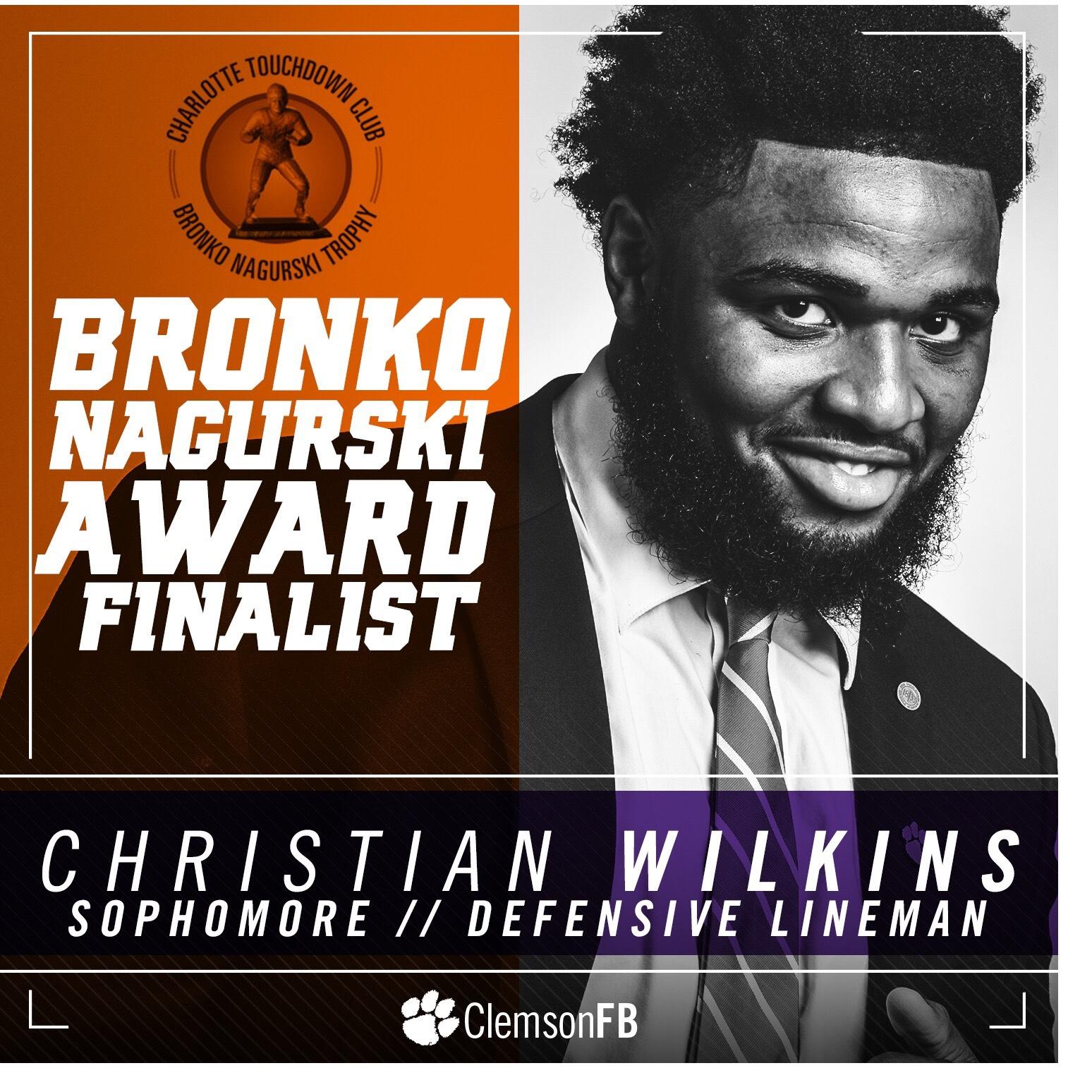 Wilkins Finalist for Nagurski Award