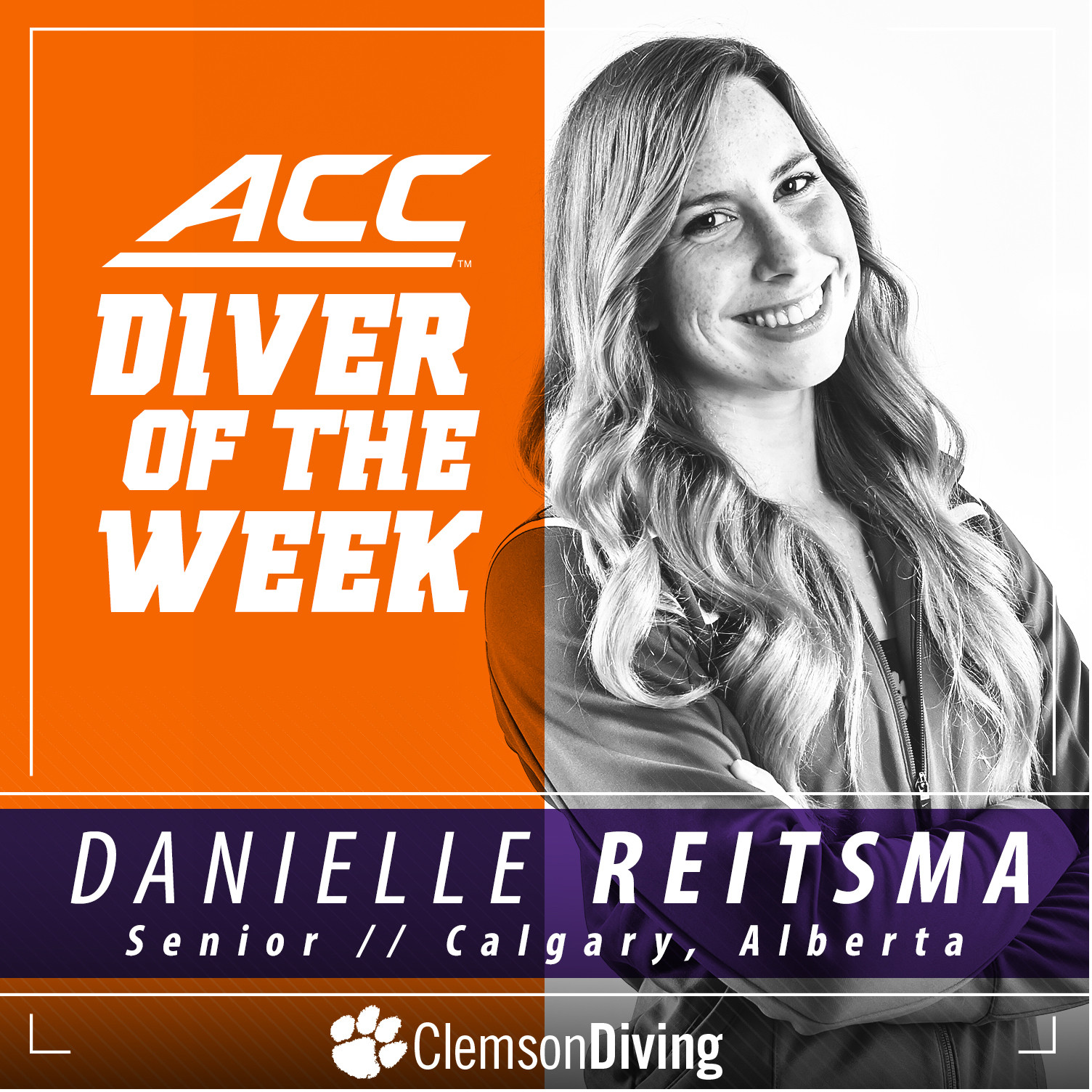 Reitsma Named ACC Diver of the Week