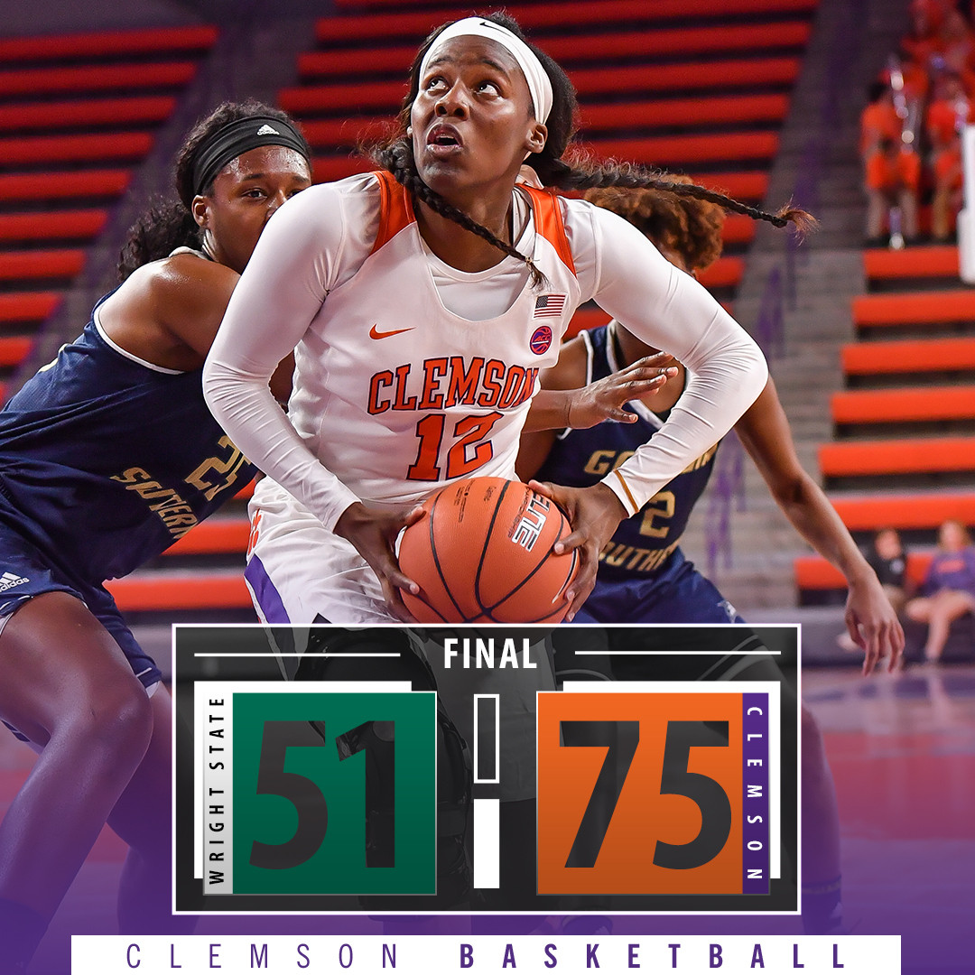 Clemson Improves to 7-0 with 75-51 Win Over Wright State