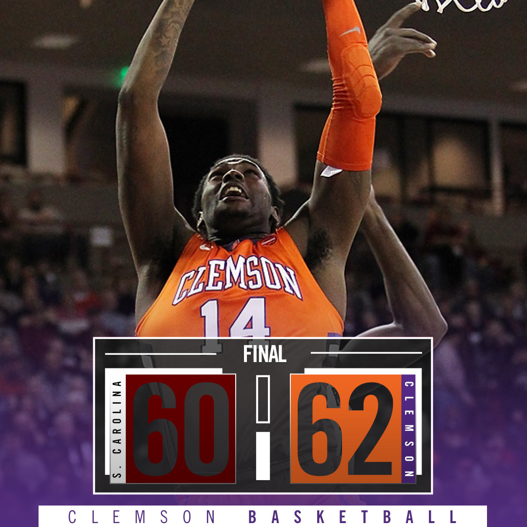 Tigers Beat No. 20 South Carolina, 62-60