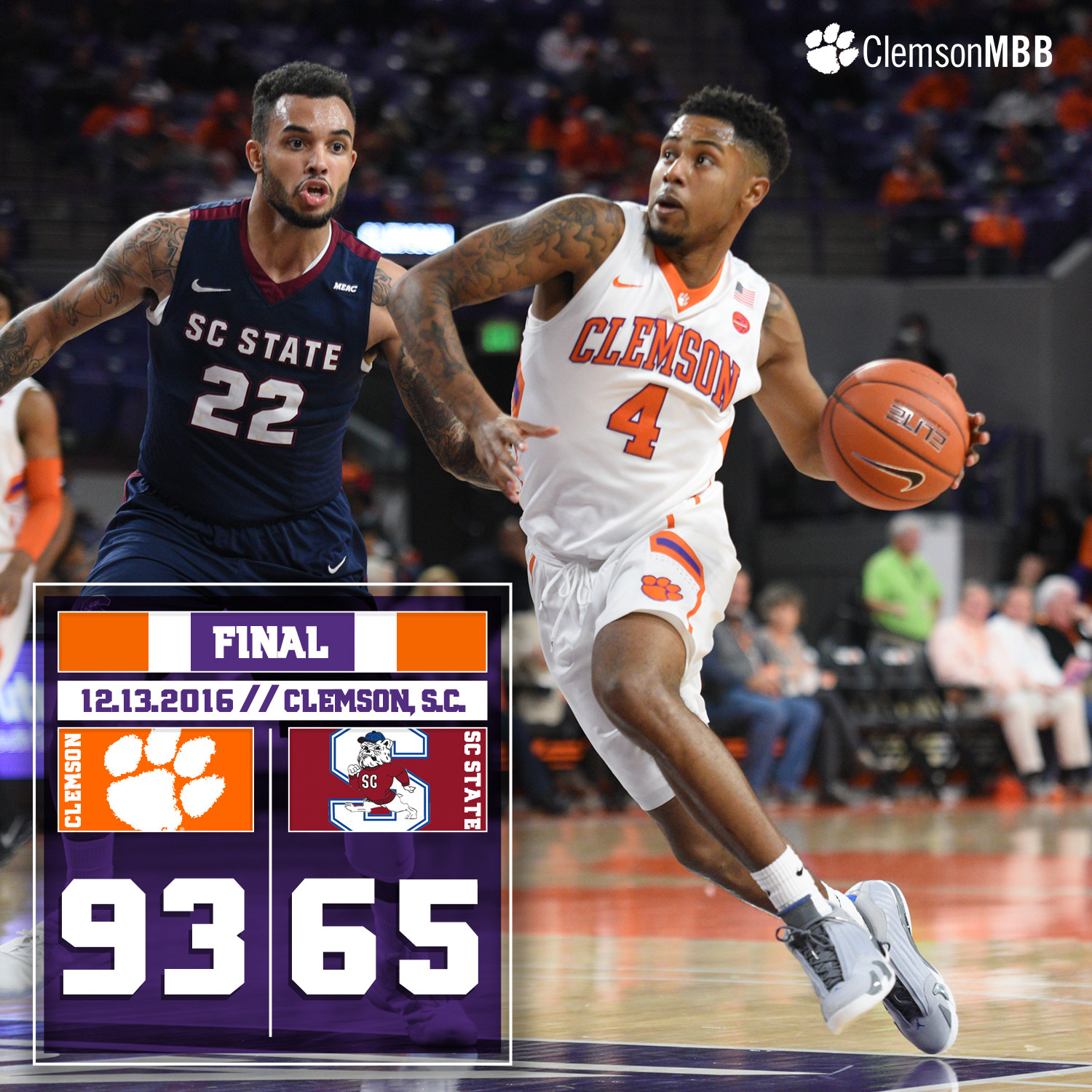 Tigers Ease Past SC State, 93-65