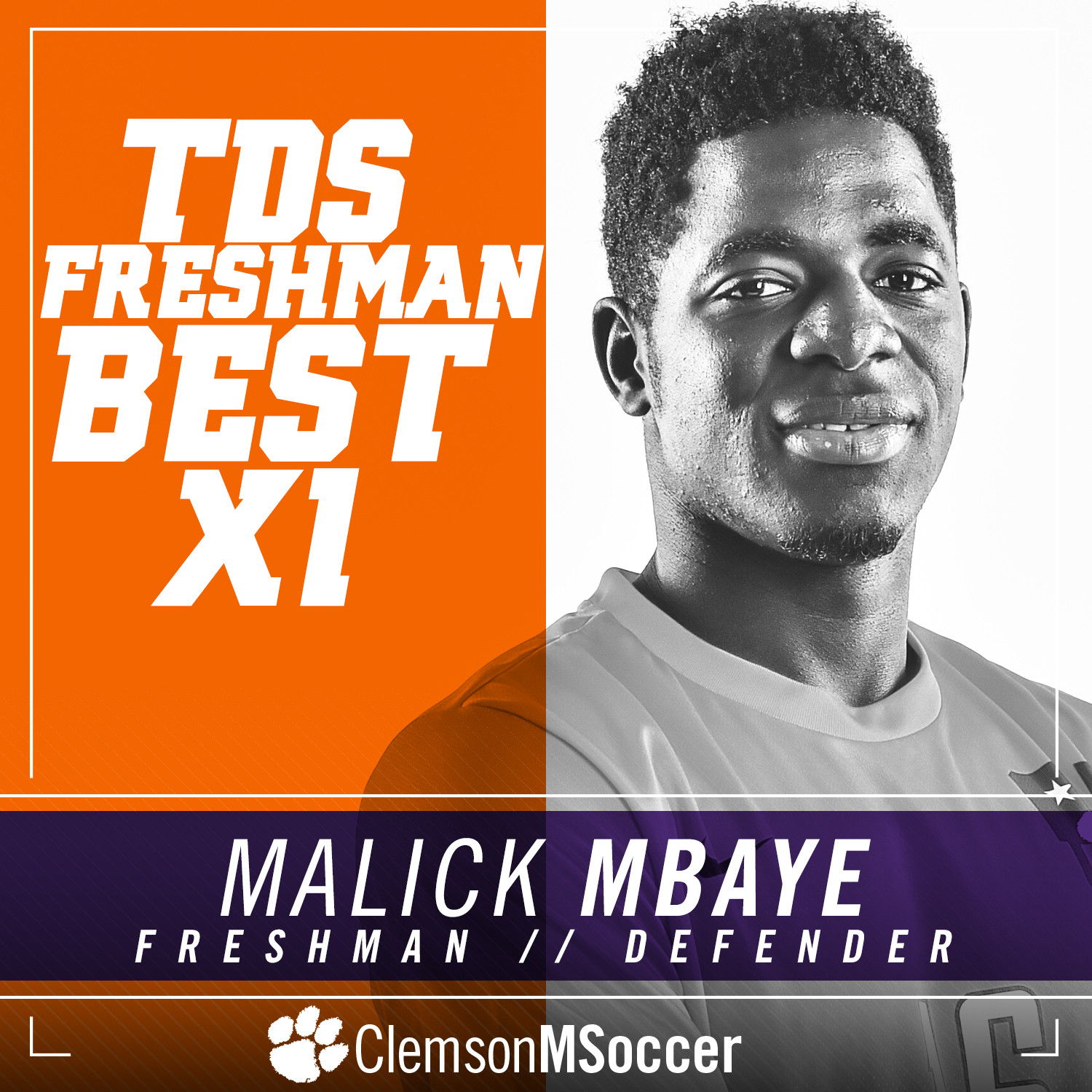 Mbaye Named To Top Drawer Soccer Freshman Best XI First Team